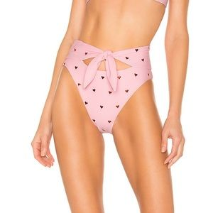 BEACH RIOT Emma Bikini Bottom in Heart